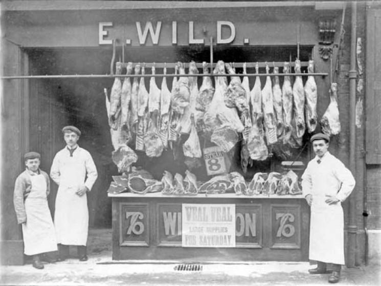 E. Wild, Butcher 76 Broomhall Street. | Photo: SALS PSy02593