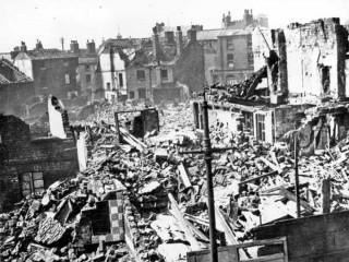 Broomhall Street, air raid damage. 1940 | Photo: SALS PSs01328 & F.H Brindley