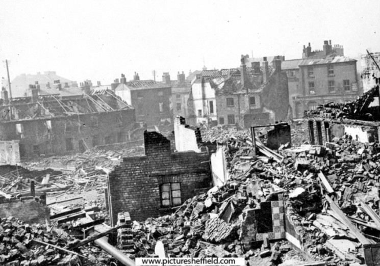Broomhall Street, air raid damage. 1940 | Photo: SALS PSs01329 & F.H Brindley