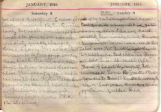 Doris Hogan Diary: 8th and 9th January 1916