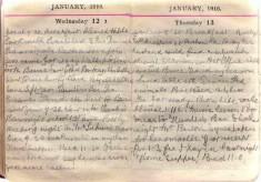 Doris Hogan Diary: 12th and 13th January 1916