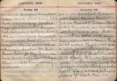 Doris Hogan Diary: 14th and 15th January 1916