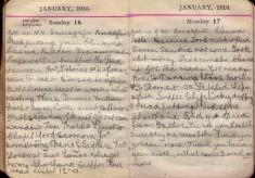 Doris Hogan Diary: 16th and 17th January 1916