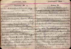 Doris Hogan Diary: 20th and 21st January 1916