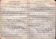 Doris Hogan Diary: 26th and 27th January 1916