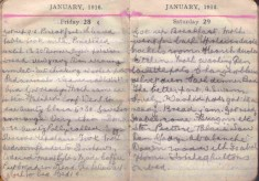 Doris Hogan Diary: 28th and 29th January 1916