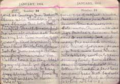 Doris Hogan Diary: 30th and 31st January 1916