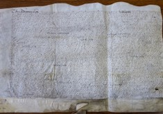 Grant of Broomhall land from Queen Elizabeth I ~ 1581
