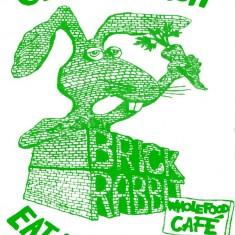 Brick Rabbit T-shirt design. 1977 | Photo: Polly Blacker / Tony Cornah