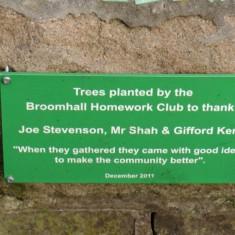 Havelock Street Garden plaque. 2014 | Photo: Polly Blacker / Tony Cornah