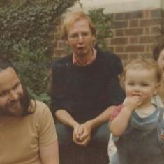 Tony, Mike, Anna and Polly outside the Rabbit House. 1980 | Photo: Polly Blacker / Tony Cornah