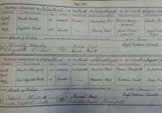 St Silas church parish registers: Examples of marriages from 1891
