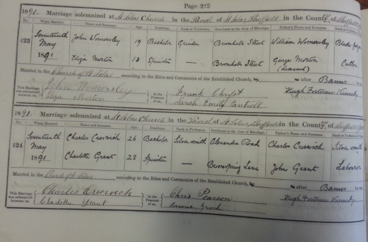 St Silas Parish Register Marriages, 1869 - 1994 | SALS PR76/2
