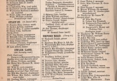 White's Directory of Sheffield: Broomhall Streets O to W ~ 1891