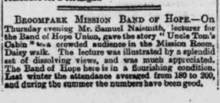 Newspaper cutting on the Band of Hope Union. 1889 | Photo: SALS 942.74 S