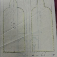 Sketches of St Silas Church windows with dimensions. Plain glass window in the vicar's vestry | Photo: SALS PR76/43