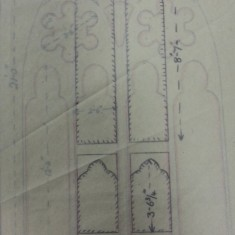 Sketches of St Silas Church windows with dimensions. | Photo: SALS PR76/43