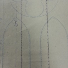 Sketches of St Silas Church windows with dimensions. Plain glass window choir vestry.   Photo: SALS PR76/43