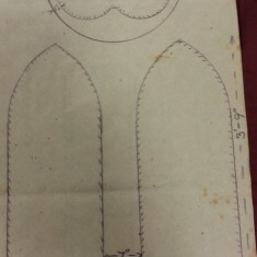 Sketches of St Silas Church windows with dimensions. Plain Glass Baptistry Window Broomhall Street .   Photo: SALS PR76/43