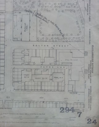 Broomspring Lane, court 8 map from 1889 | Photo: SALS 294.7.24