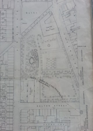 1889 map showing site of the convent | Photo: SALS 294.7.24