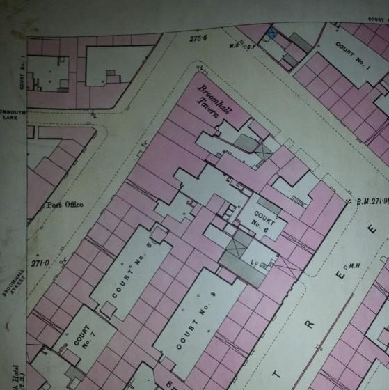 Broomhall Street map showing the Broomhall Tavern. 1889 | Photo: SALS 294.11.5