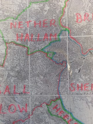 Parish boundary map which can be found at the Sheffield Archives | Photo: SALS