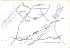 Map of Broomhill and Broomhall ~ 1808
