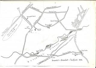 Map of Broomhill & Broomhall. 1808 | Photo: Kelham Island Museum