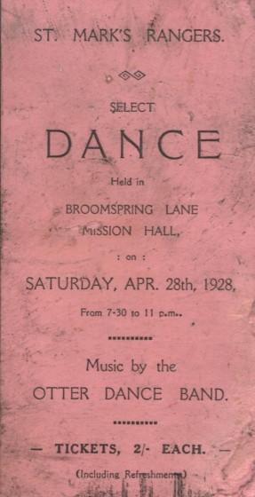 1928 Dance Card