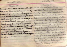 Doris Hogan Diary: 10th and 11th January 1916