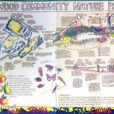 Lynwood Community Nature Park plan, 1996   Photo: BPA