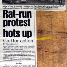Star newspaper article about traffic, 1994 | Photo: BPA
