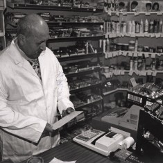 Local shopkeeper. 1992 | Photo: Broomhall Centre