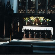 St Silas Church Altar. Anniversary Service. July 1999 | Photo: Audrey Russell