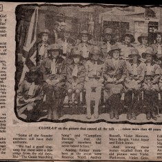Newspaper article about the 50th anniversary of St Silas guides. Unknown year | Photo: Audrey Russell