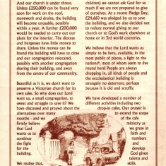 St Silas Church leaflet. Page 1. Early 1990s | Photo: Audrey Russell