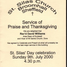 St Silas Newsletter front cover – St Silas Day celebration. July 2000 | Photo: Audrey Russell