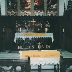 St Silas Church Altar decorated for Easter. 1999 | Photo: Audrey Russell