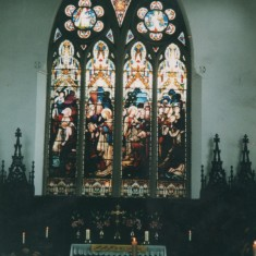 Altar window at St Silas Church. 1999 | Photo: Audrey Russell