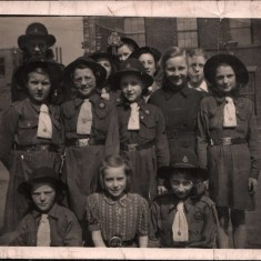 St Silas guides wearing older style hats. 1946 | Photo: Audrey Russell