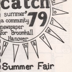 Cover of the Summer 1979 edition of Catch Newspaper. Summer 1979 | Photo: Broomhall Centre