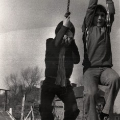 Children climbing bell ropes. 1980s | Photo: Our Broomhall