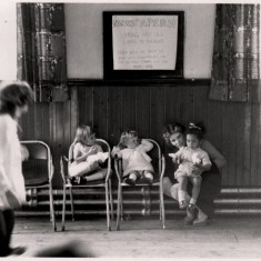 Woman posing with children in the Broomspring Centre. 1970s | Photo: Our Broomhall
