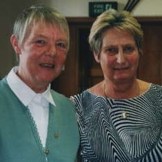 Christine McCluskey (left). 13 October 2001 | Photo: Audrey Russell