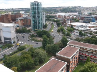Michael Road area taken from the Hanover Flats roof. August 2014 | Photo: Our Broomhall