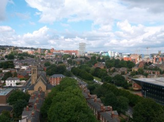 Photo of Broomhall taken from the Hanover Flats roof. August 2014 | Photo: Our Broomhall