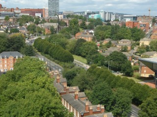 Hanover Way taken from the Hanover Flats roof. August 2014 | Photo: Our Broomhall