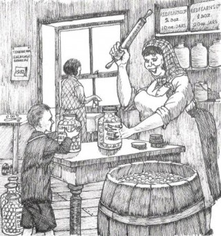 illustrationof the Pickle Shop taken from