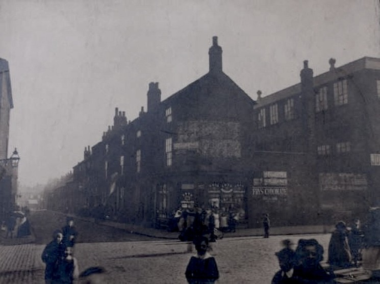 Site of Joseph Pickering & Sons Ltd packaging works, Moore St, Sheffield. 1906   Photo: SALS MD7781